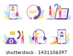 online assistant. virtual... | Shutterstock .eps vector #1431106397