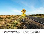 an iconic kangaroo road sign... | Shutterstock . vector #1431128081