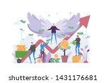 angel investor vector...