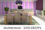 interior dining area. 3d... | Shutterstock . vector #1431182291