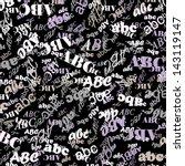 letters of the alphabet | Shutterstock .eps vector #143119147