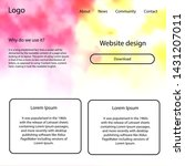light red  yellow vector design ...