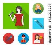 bitmap illustration of karaoke... | Shutterstock . vector #1431213224