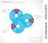 infographic template   color  ... | Shutterstock .eps vector #143121691