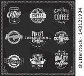 logo vintage cafe coffee retro... | Shutterstock .eps vector #143121934