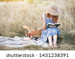 summer   provencal picnic in... | Shutterstock . vector #1431238391