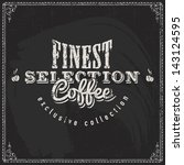 coffee shop label with retro... | Shutterstock .eps vector #143124595
