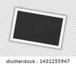 polaroid photo frame. square... | Shutterstock .eps vector #1431255947