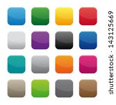 blank square buttons. vector... | Shutterstock . vector #143125669