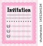 pink retro invitation template. ...   Shutterstock .eps vector #1431264134