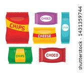 snack package  snack wrappers... | Shutterstock .eps vector #1431359744
