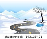 illustration of a long road at... | Shutterstock .eps vector #143139421