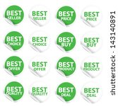 discount green labels and... | Shutterstock .eps vector #143140891