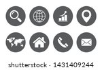 web icon set symbols vector | Shutterstock .eps vector #1431409244