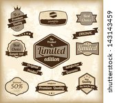 retro design label set. vector... | Shutterstock .eps vector #143143459