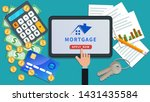 mortgage payment online design. ...   Shutterstock .eps vector #1431435584