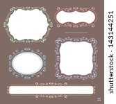set of ornamental frames | Shutterstock .eps vector #143144251