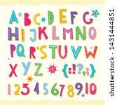 Children S Font. Funny Kid...