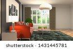interior of the living room. 3d ... | Shutterstock . vector #1431445781