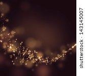 glittering stars on bokeh... | Shutterstock . vector #143145007