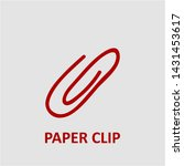 filled paper clip icon. paper...   Shutterstock .eps vector #1431453617