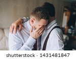 the young groom cries from... | Shutterstock . vector #1431481847