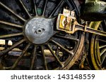 Closeup Train Wheel