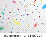 confetti  bright colors ... | Shutterstock .eps vector #1431487124
