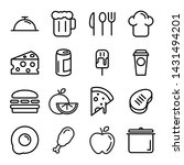 collection of restaurant thin... | Shutterstock .eps vector #1431494201