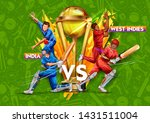 illustration of batsman player... | Shutterstock .eps vector #1431511004