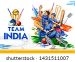 illustration of batsman player... | Shutterstock .eps vector #1431511007