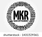 mkr or maker cryptocurrency... | Shutterstock .eps vector #1431529361