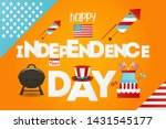 independence day greeting card. ... | Shutterstock .eps vector #1431545177