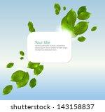 vector spring summer banner | Shutterstock .eps vector #143158837