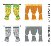 isolated object of curtains and ... | Shutterstock .eps vector #1431592481