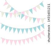 pennant banner garland  vector...   Shutterstock .eps vector #1431601211