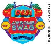 desi swag. desi word art. desi... | Shutterstock .eps vector #1431606521