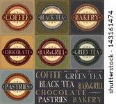 vector vintage labels set | Shutterstock .eps vector #143161474