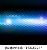 abstract blue light hexagonal... | Shutterstock .eps vector #143163247