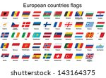 set of european countries flags ... | Shutterstock . vector #143164375