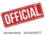 official rubber stamp. official ... | Shutterstock .eps vector #1431645077