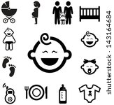 baby icons | Shutterstock .eps vector #143164684