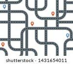 highways seamless pattern. a... | Shutterstock .eps vector #1431654011
