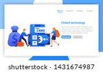 financial technology or fintech....   Shutterstock .eps vector #1431674987