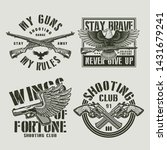 vintage military labels with... | Shutterstock .eps vector #1431679241