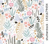 seamless pattern with flowers ... | Shutterstock .eps vector #1431679454