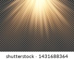 realistic light flare special... | Shutterstock .eps vector #1431688364