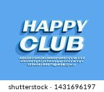 vector stylish emblem happy... | Shutterstock .eps vector #1431696197