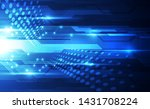 vector abstract futuristic... | Shutterstock .eps vector #1431708224