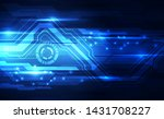 vector abstract futuristic... | Shutterstock .eps vector #1431708227
